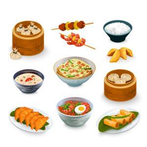 Traiteur cuisine asiatique Vitrines de Peynier